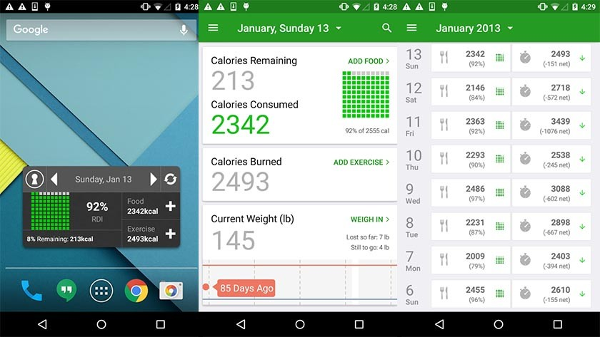Food Intake Calculator App | Food